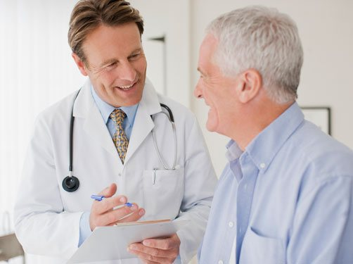 Doctor who specialize in Human Growth Hormone Treatment with a Patient